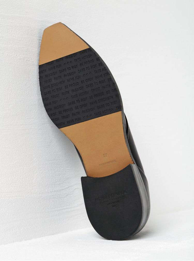 Černé dámské kožené polobotky Royal RepubliQ