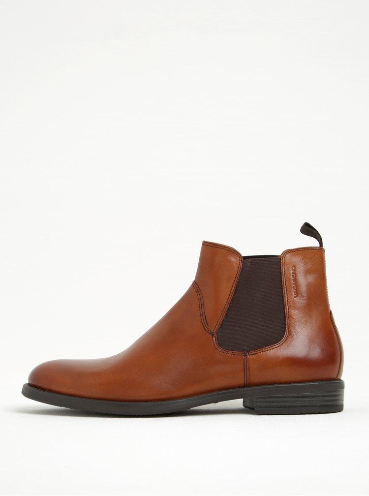 Hnědé pánské kožené chelsea boty Vagabond Salvatore