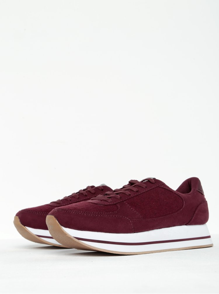 Pantofi sport rosu bordo  ONLY Smilla