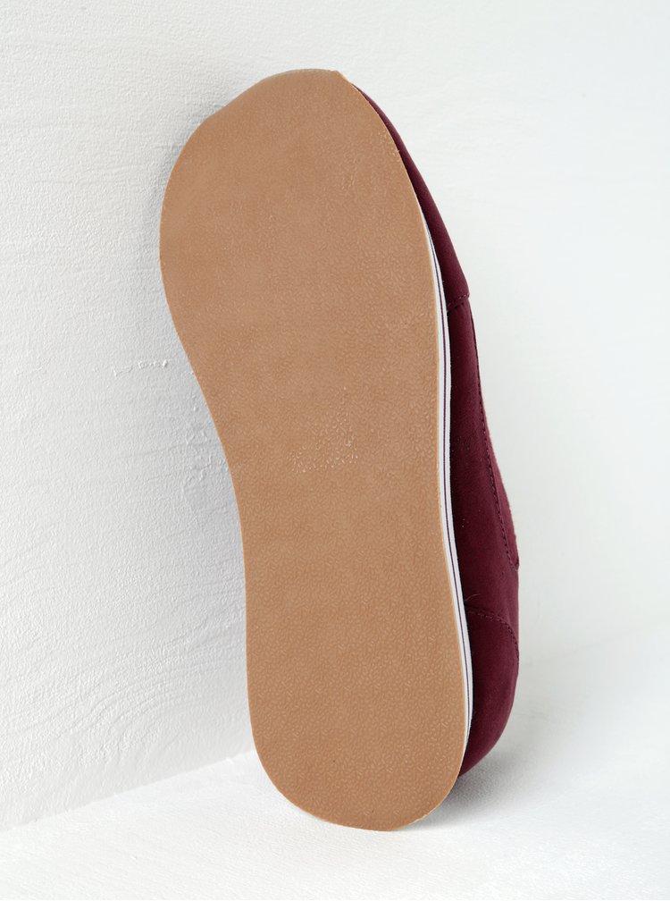Vínové tenisky na platformě s detaily v semišové úpravě ONLY Smilla