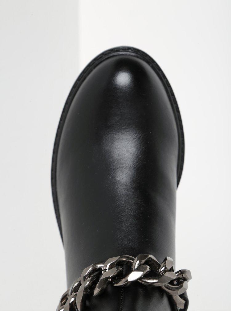 Ghete negre cu lant decorativ - ONLY Blix Chain