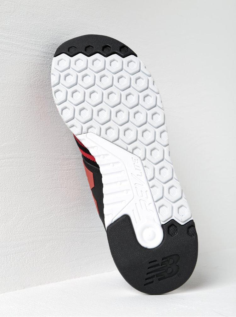 Červeno-čierne pánske tenisky New Balance