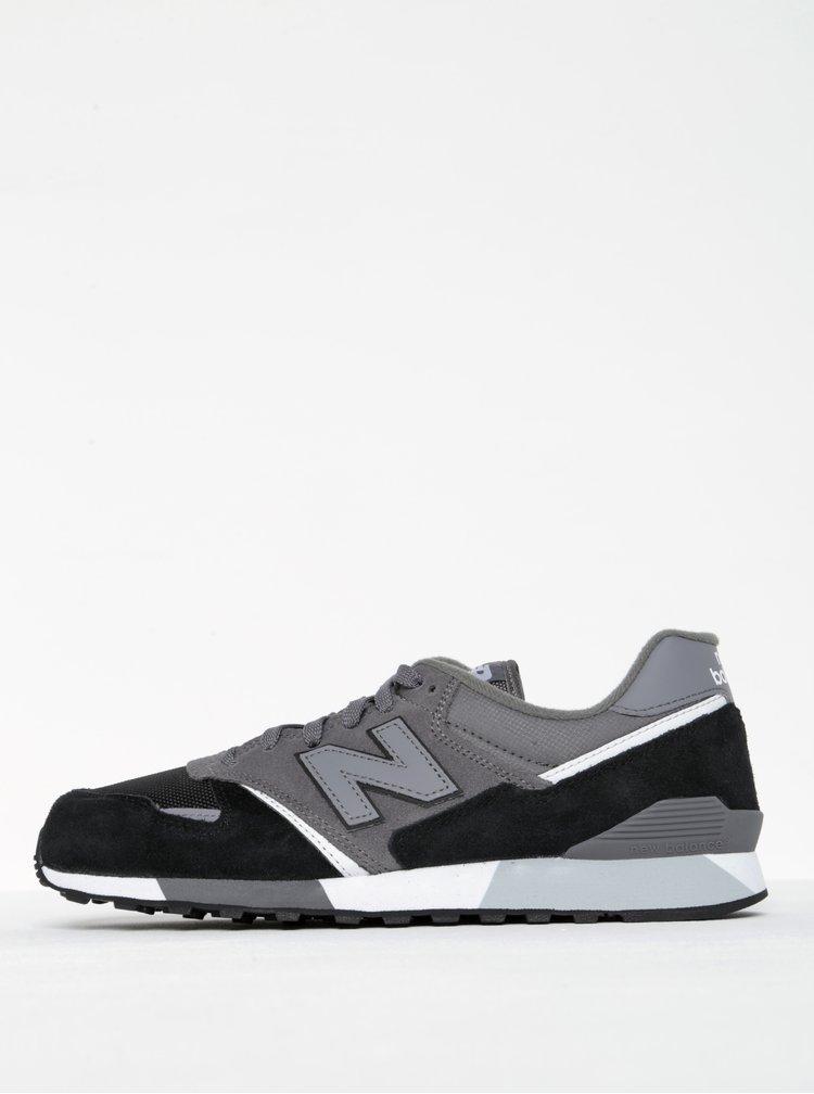 Pantofi sport negru cu gri pentru bărbați - New Balance 446