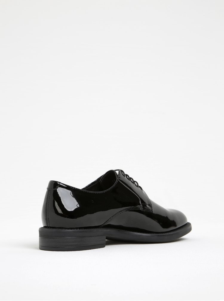 Pantofi oxford negri din piele lacuita Vagabond Amina