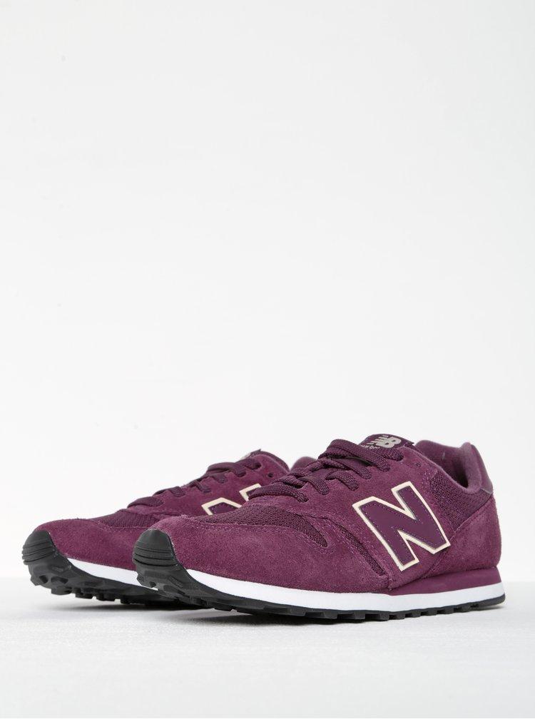 Pantofi sport rosu burgundy pentru femei - New Balance 373
