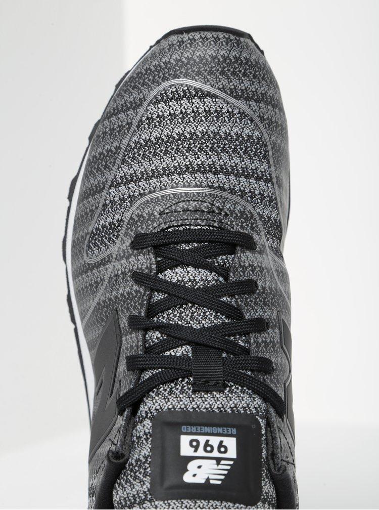 Černo-šedé dámské žíhané tenisky New Balance