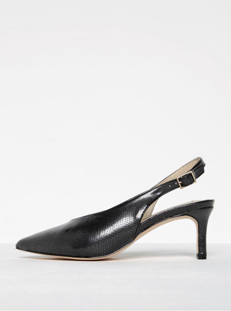 Tmavě šedé sandálky s hadím vzorem Miss Selfridge
