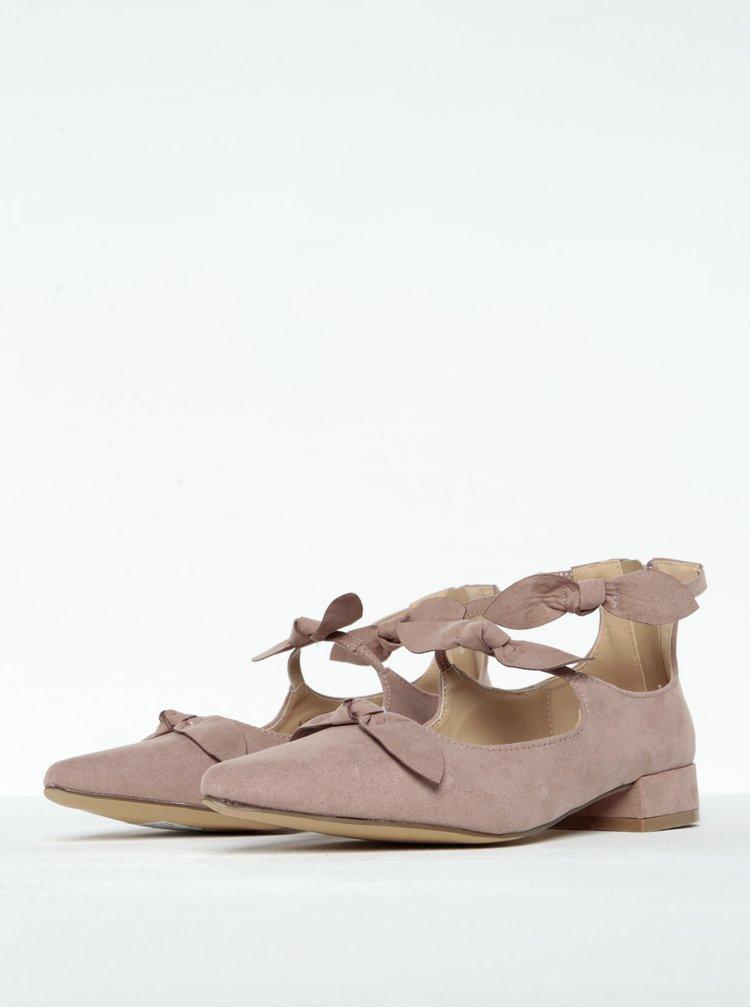 Starorůžové boty v semišové úpravě s mašlí Dorothy Perkins