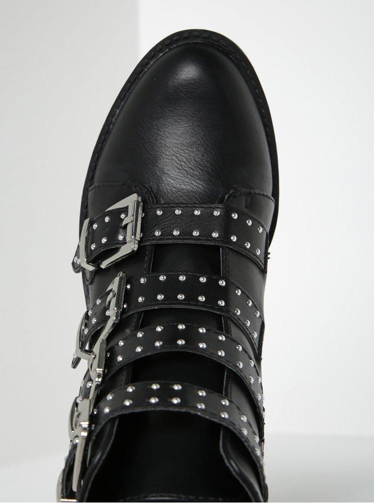 Černé kotníkové boty s přezkami Dorothy Perkins