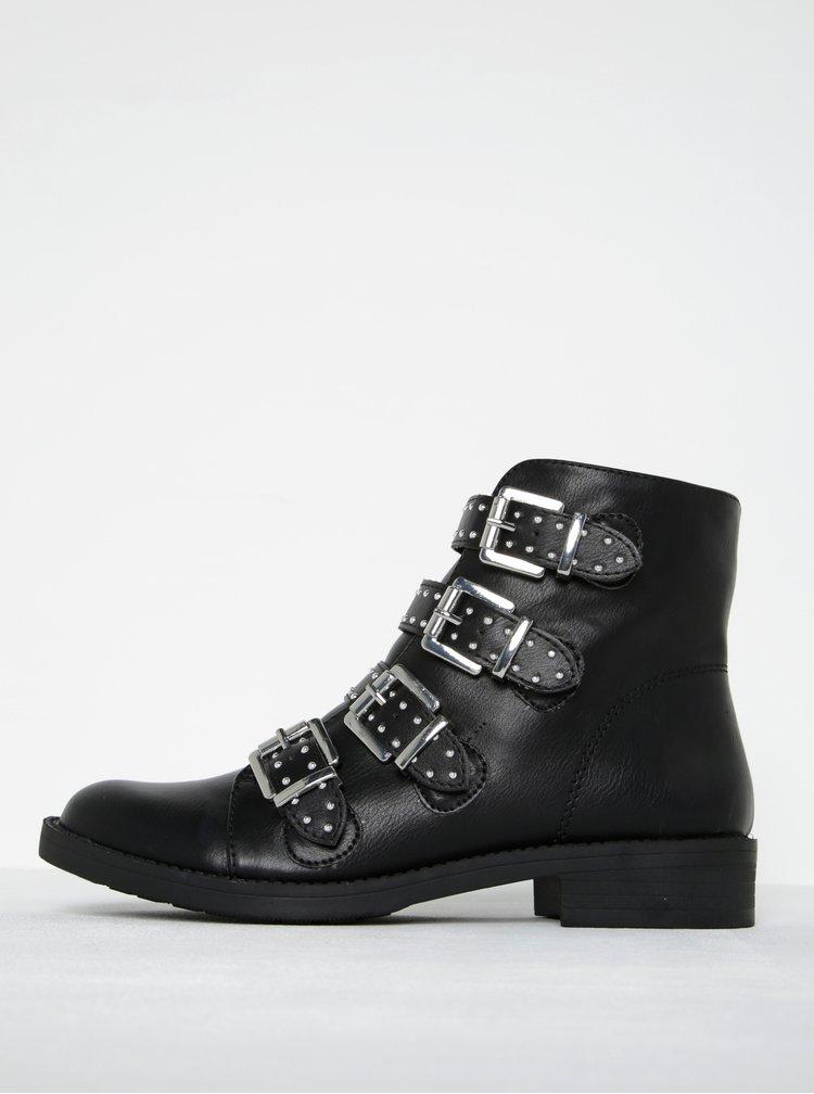 Čierne členkové topánky s prackami Dorothy Perkins
