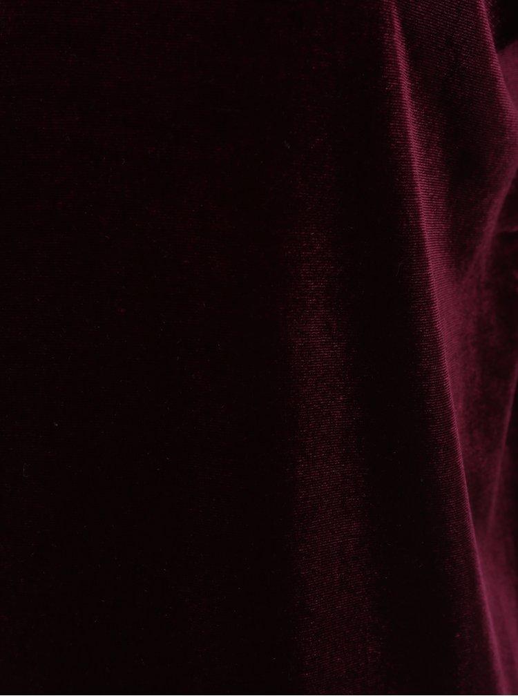 Rochie rosu bordo din catifea - VERO MODA Agnes