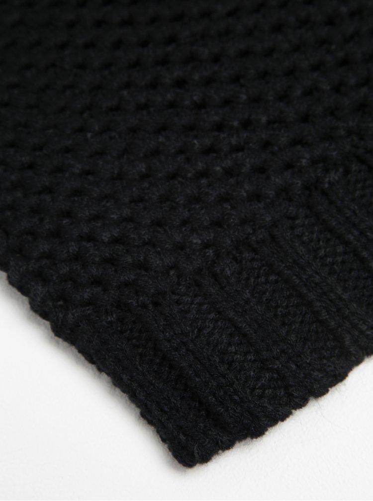 Esarfa neagra tricotata - ONLY & SONS Cenz