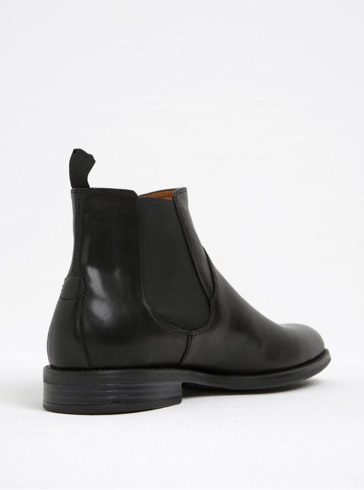 Černé pánské kožené chelsea boty Vagabond Salvatore