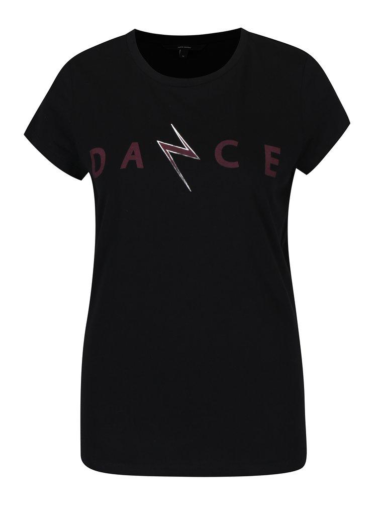 Černé tričko s krátkým rukávem a potiskem VERO MODA Dance Studio
