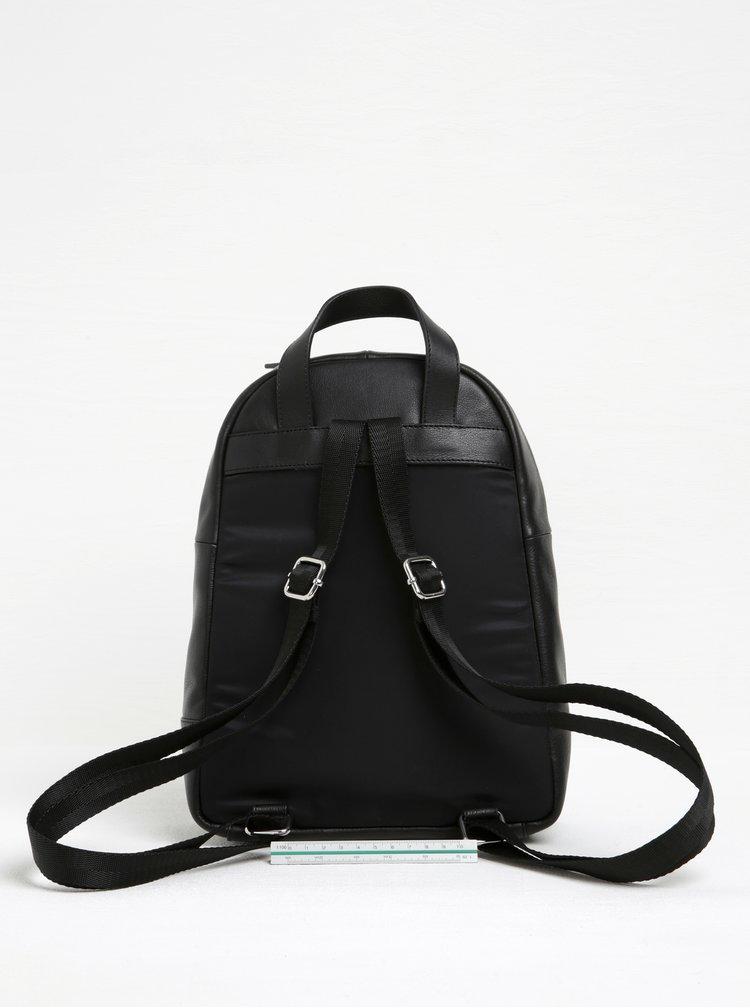 Černý kožený batoh Vagabond Lyon