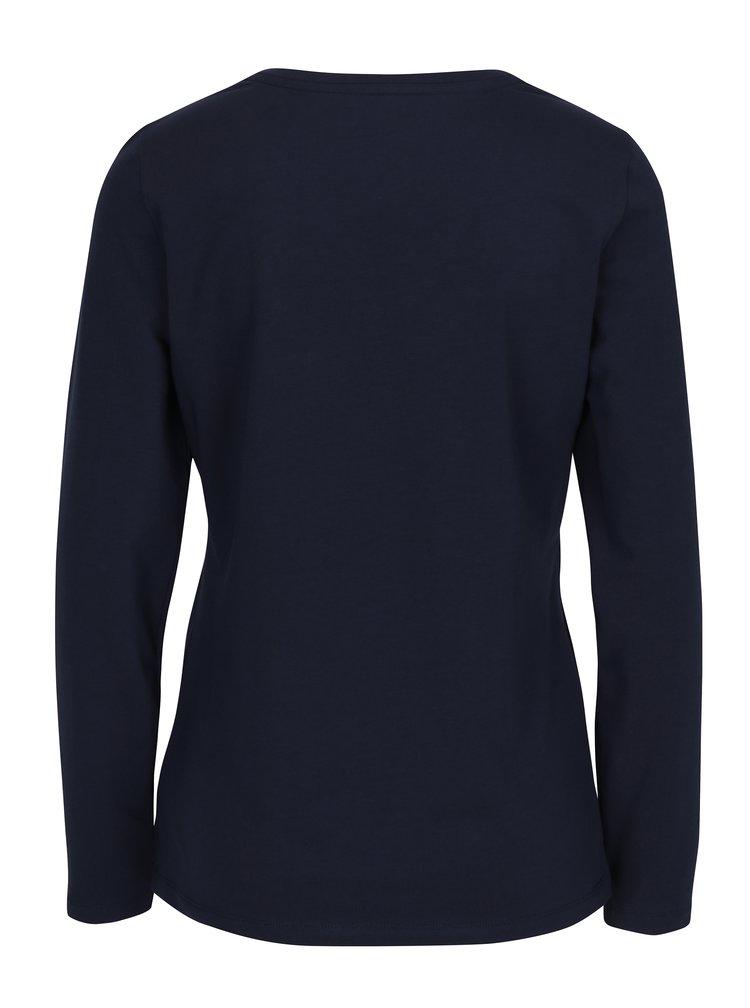 Bluza albastra cu decolteu encoeur Nautica