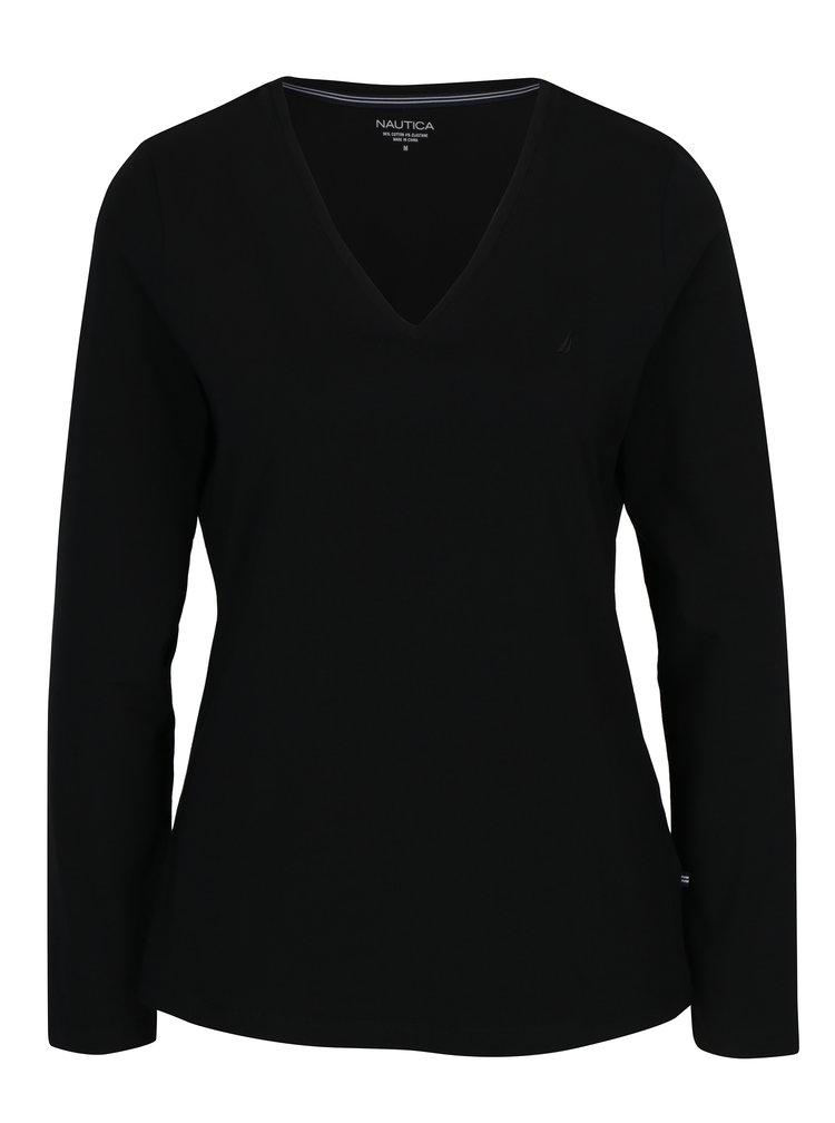 Černé dámské tričko s dlouhým rukávem Nautica