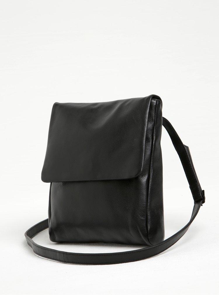 Černá kožená crossbody kabelka Vagabond Nice