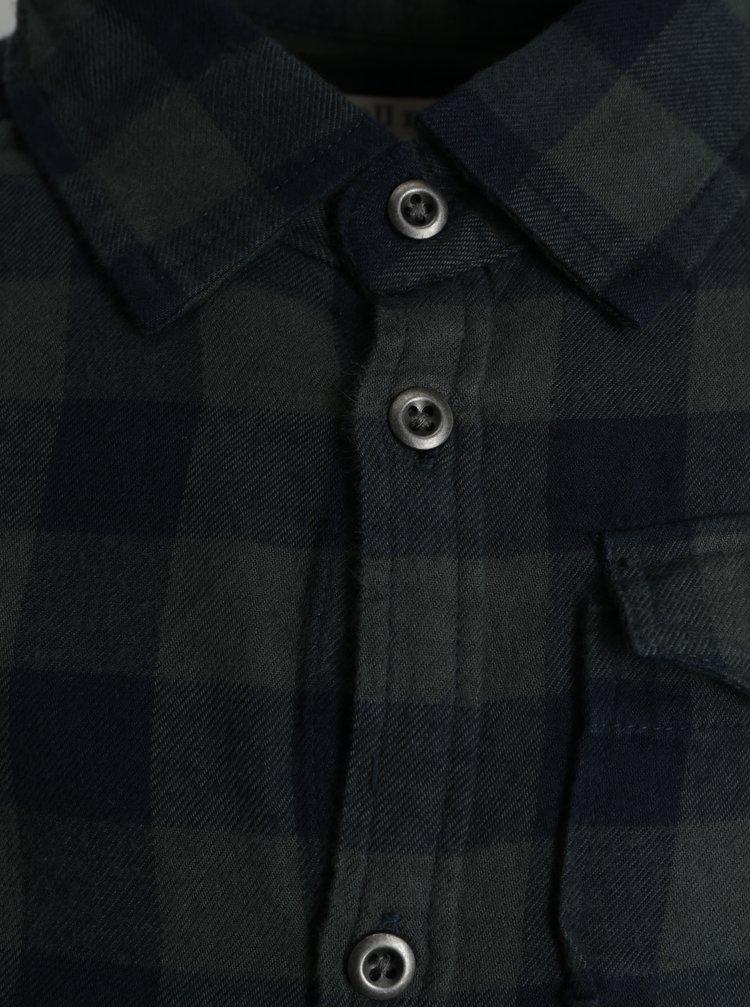 Tmavě zelená klučičí kostkovaná košile small rags Fabian