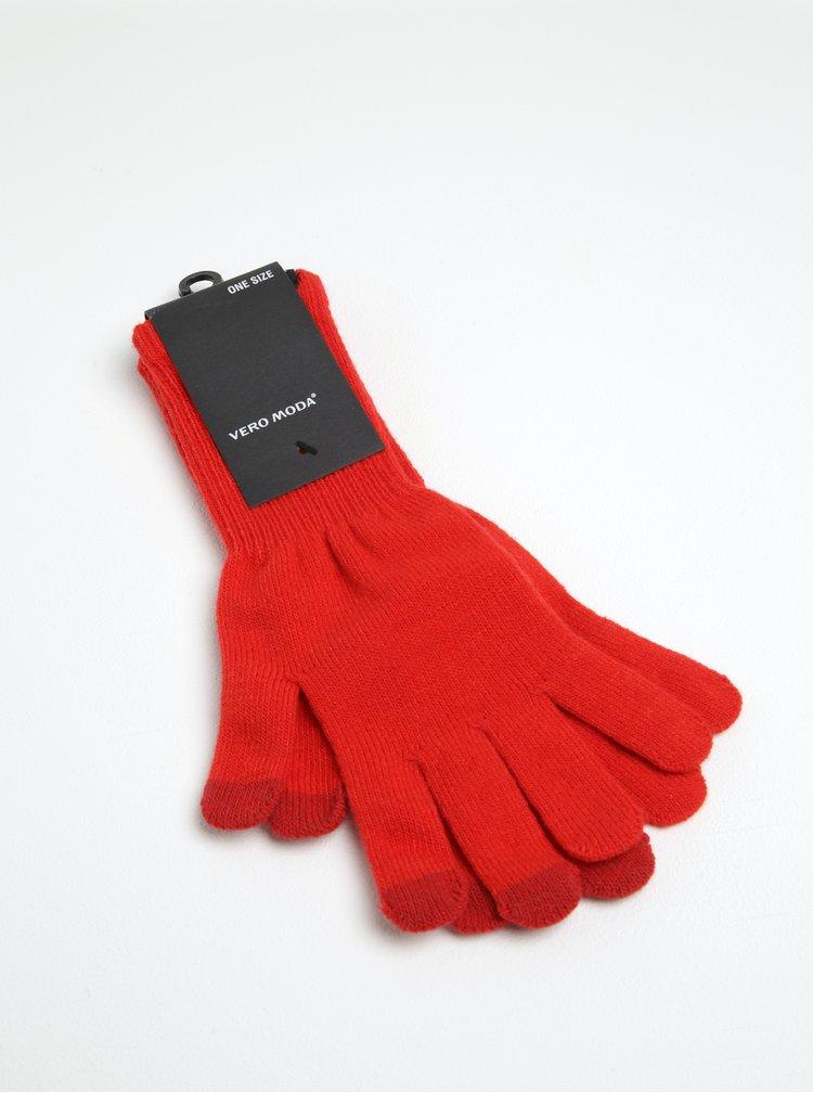Červené rukavice VERO MODA Nete