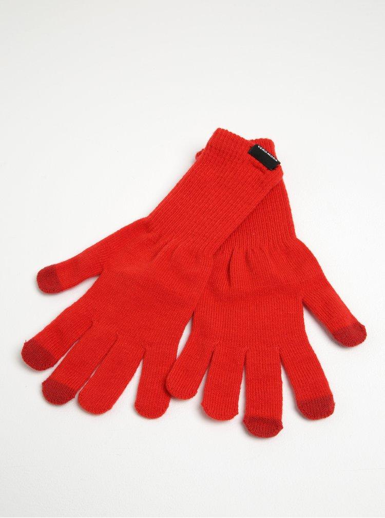 Mănuși tricotate roșii  - VERO MODA Nete