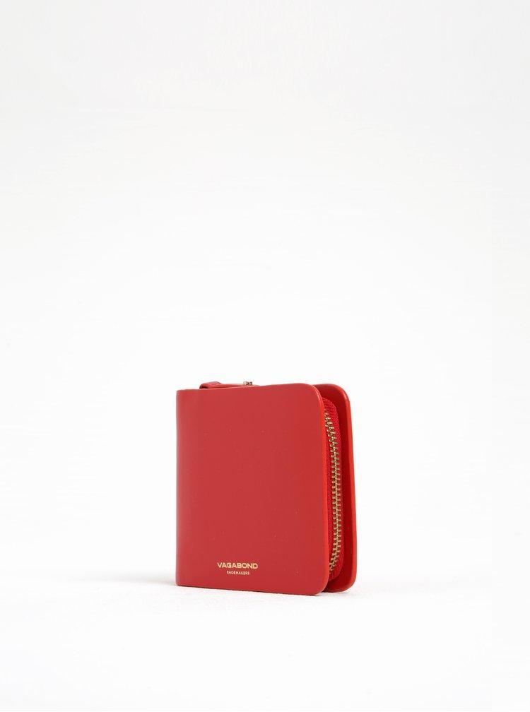 Portofel roșu din piele Vagabond Palermo