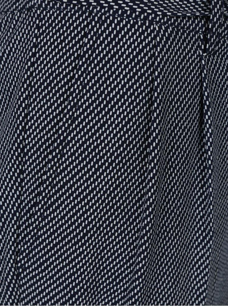 Tmavě modré vzorované kalhoty Nautica