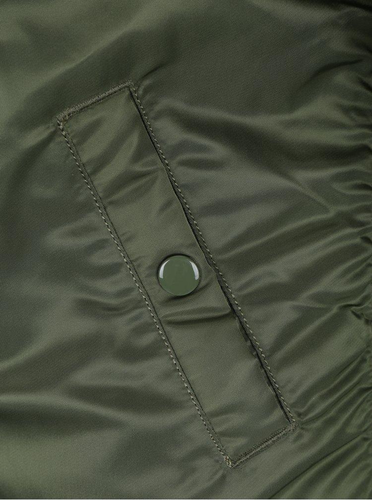 Zelený dámský bomber s nášivkami ALPHA INDUSTRIES