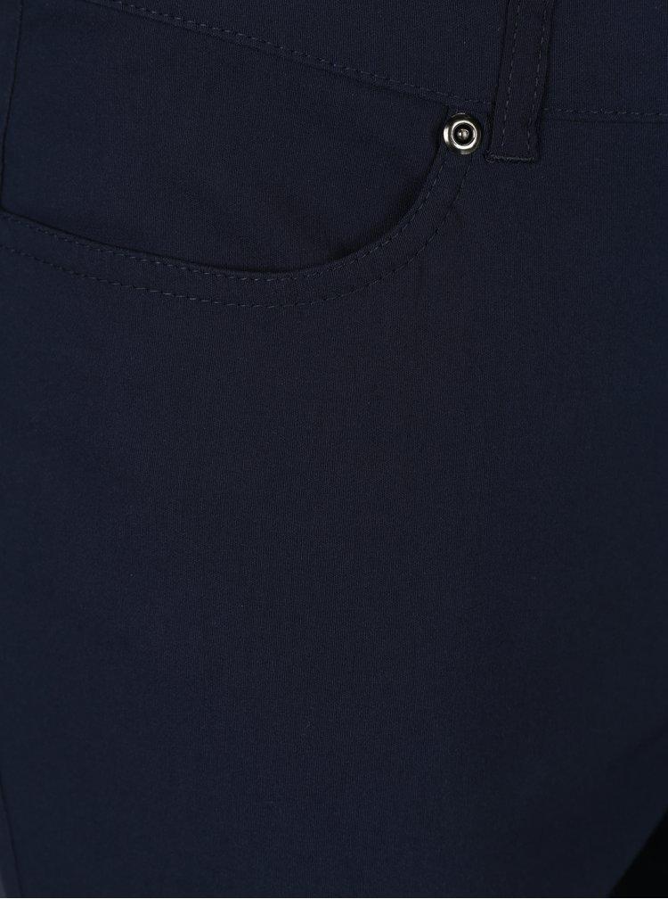 Pantaloni bleumarin cu talie medie pentru femei - Gina Laura