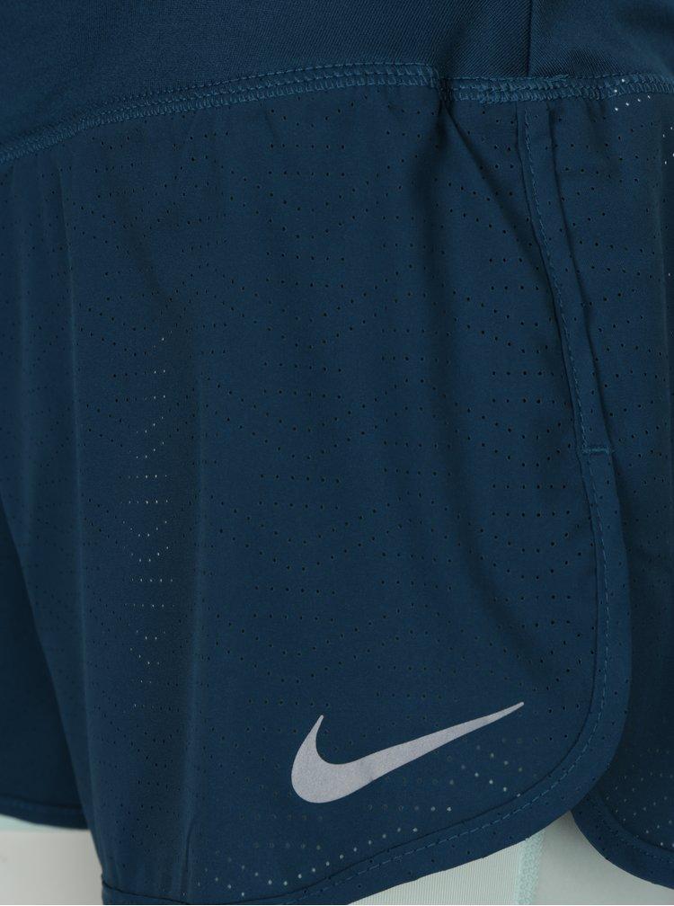 Petrolejovo-tyrkysové dámské funkční kraťasy Nike
