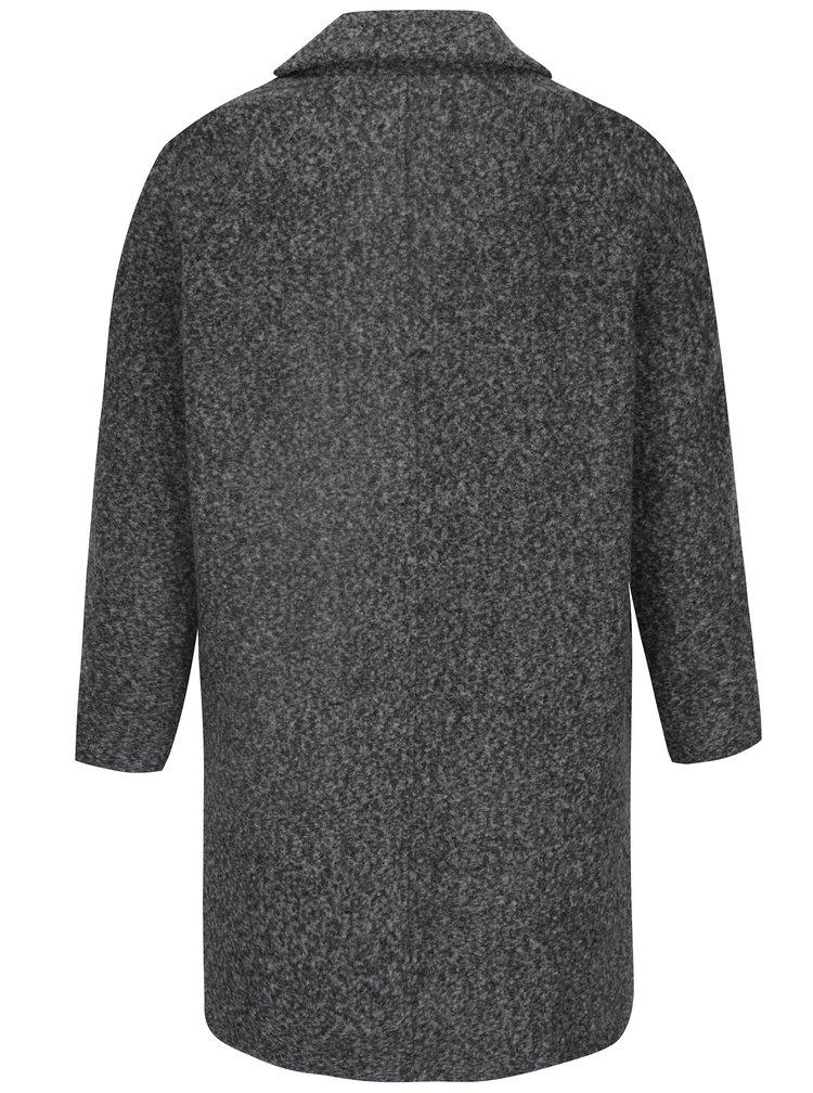 Šedý žíhaný kabát Gina Laura