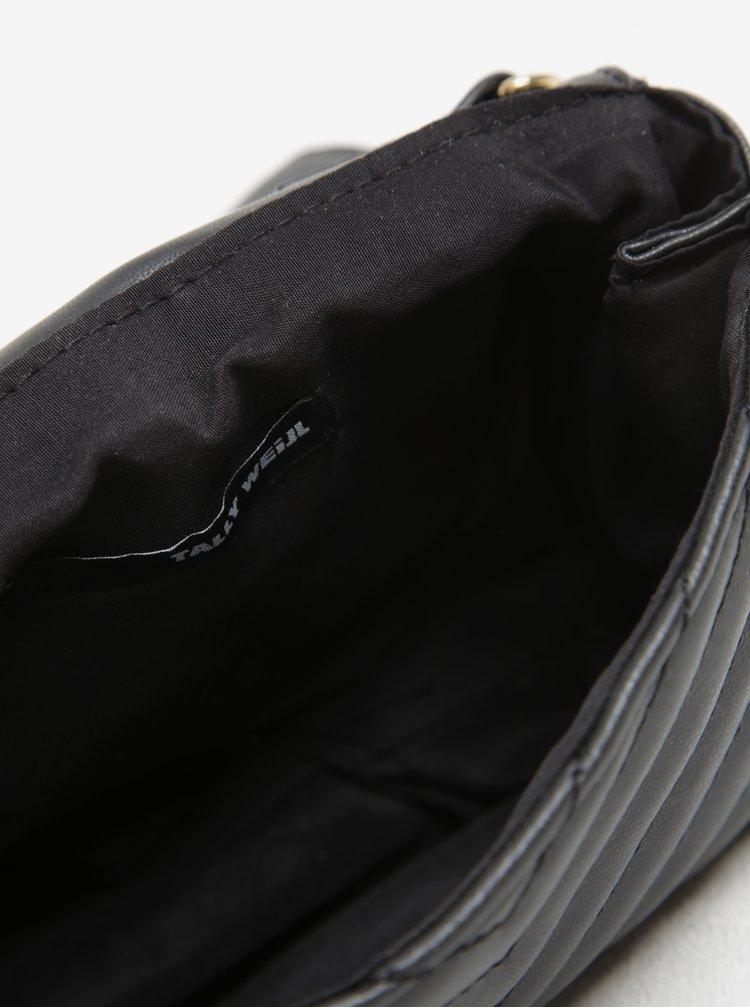 Černá prošívaná crossbody kabelka TALLY WEiJL