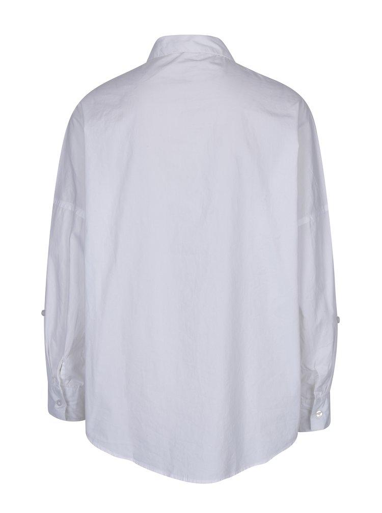 Bílá oversize košile s výšivkou TALLY WEiJL