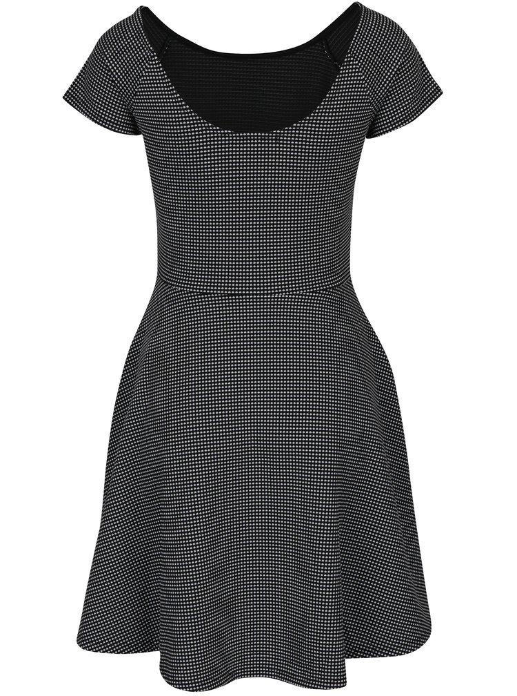 Černo-bílé vzorované šaty TALLY WEiJL