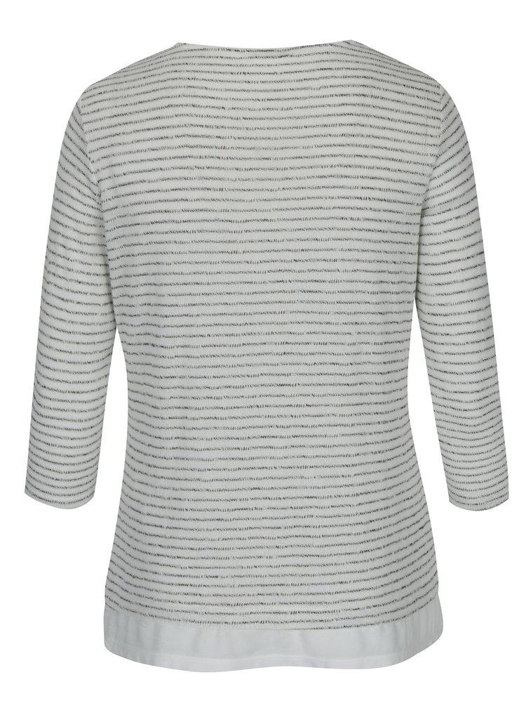 Krémový pruhovaný svetr Gina Laura