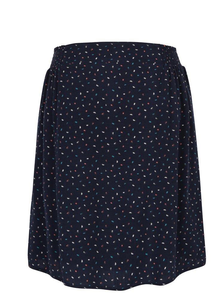 Tmavě modrá vzorovaná sukně s.Oliver