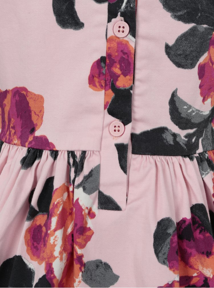 Světle růžové holčičí květované šaty Tom Joule Party Dress