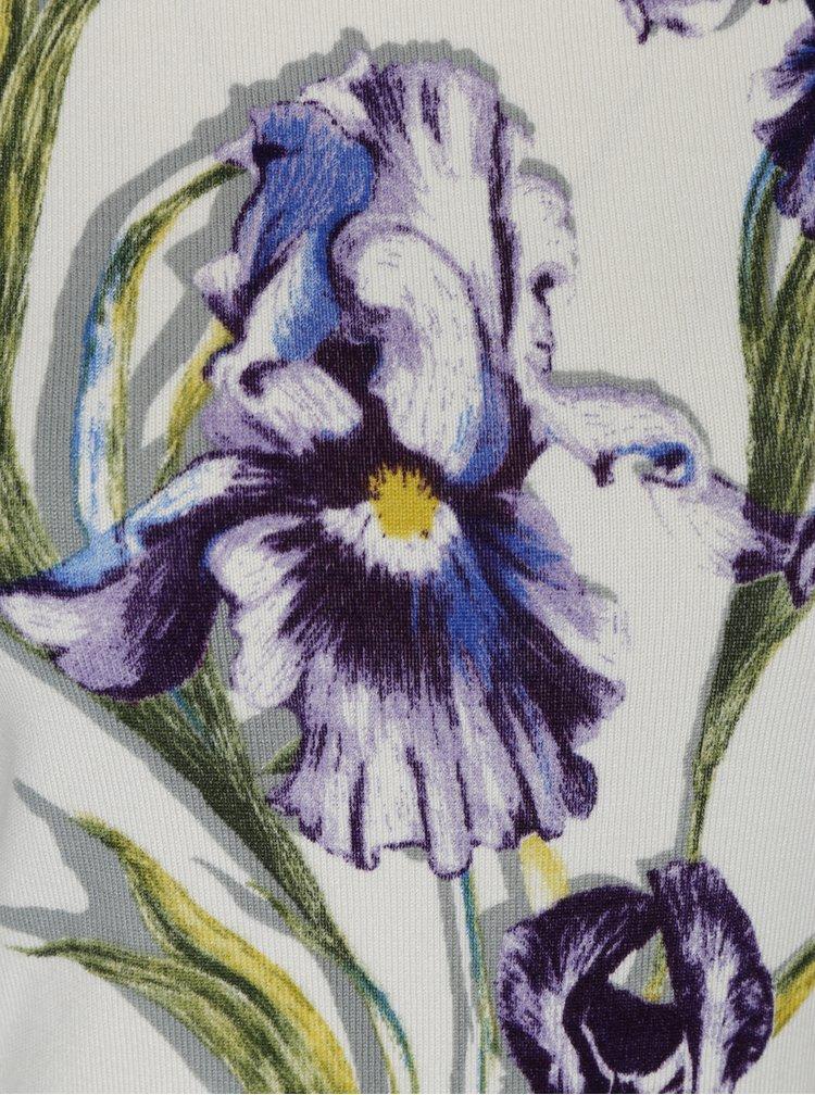 Pulover crem cu print floral M&Co