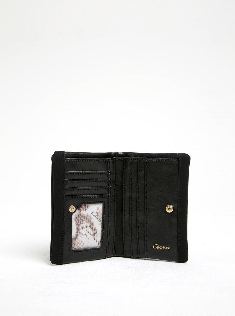 Černá koženková peněženka Gionni Giselle