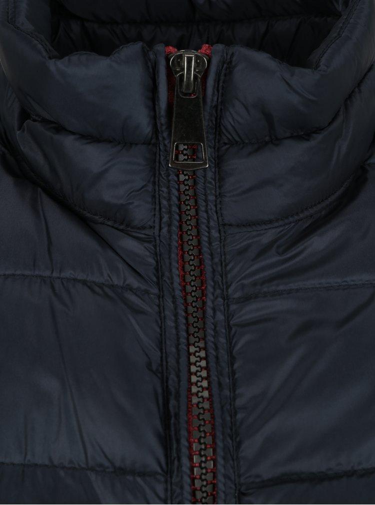 Tmavě modrá prošívaná bunda s kapsami JP 1880