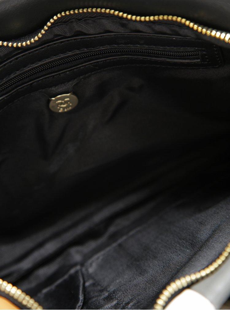 Šedo-černá crossbody kabelka Gionni Madolen