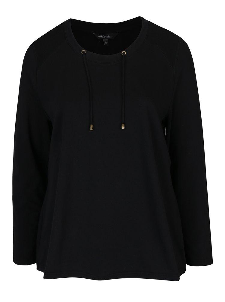 Bluza neagra cu snur Ulla Popken