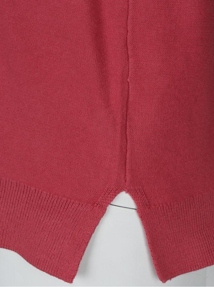 Růžový svetr s perforovanými detaily Ulla Popken