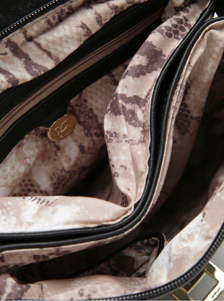 Černá crossbody kabelka se sponou ve zlaté barvě Gionni Lyra