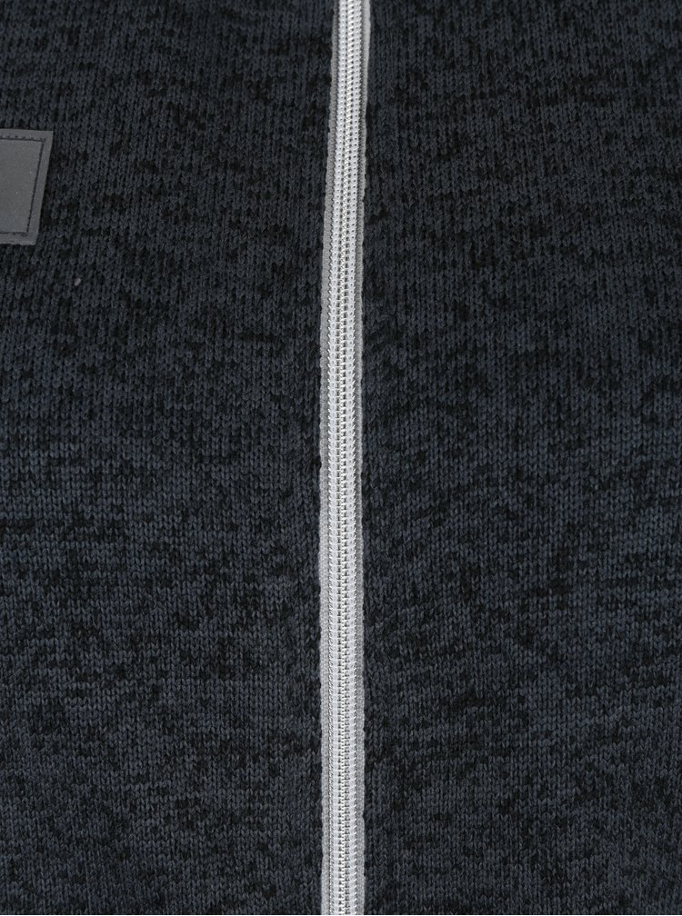 Tmavě šedá dámská dlouhá mikina na zip LOAP Ginevra