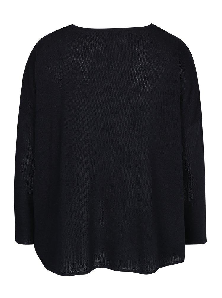 Tmavě modrý svetr s kapsami Ulla Popken