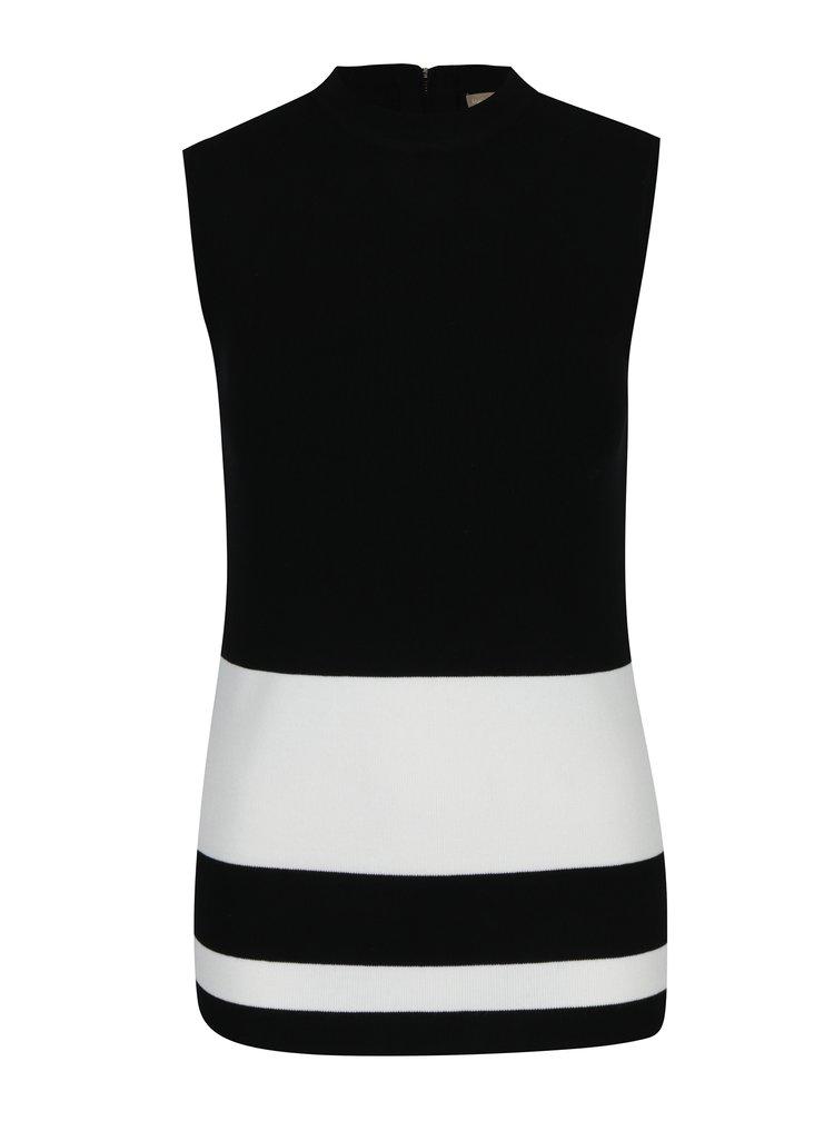 Bílo-černý svetrový top s pruhy M&Co