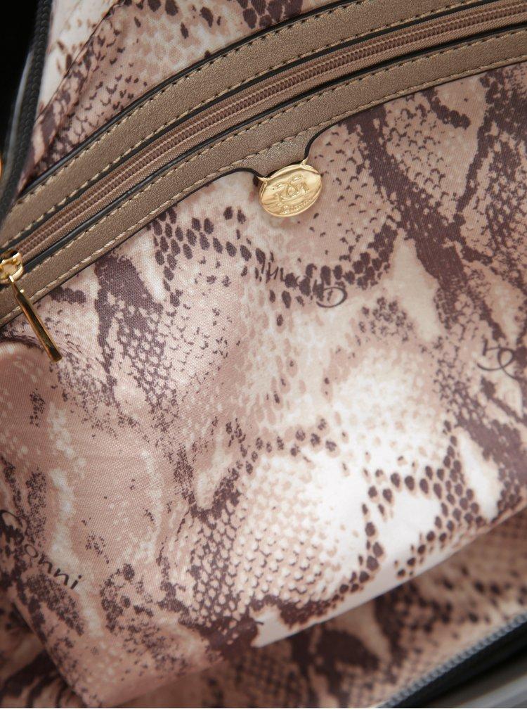 Geanta crossbody maro cu negru cu detalii aurii Gionni Maddy