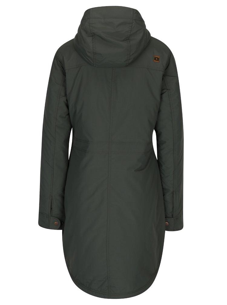 Tmavozelený dámsky zimný nepremokavý kabát LOAP Nikca  485a4f20208