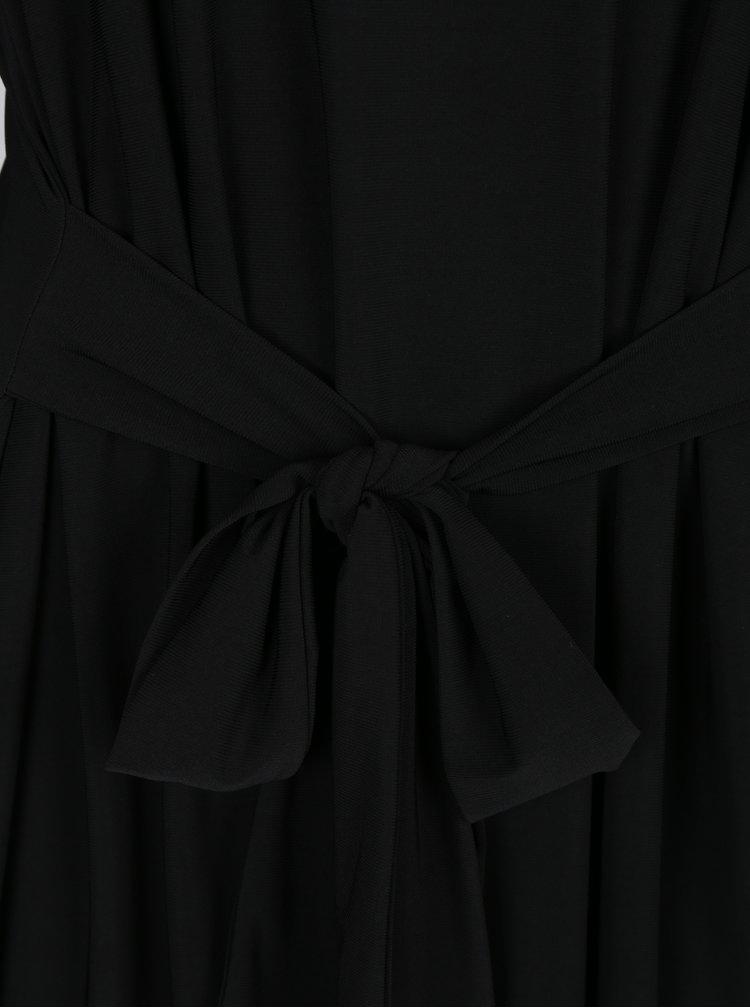 Rochie neagra midi cu codron M&Co